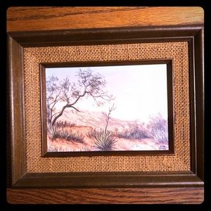 "Stunning Vintage Painting ""Texas Yucca"""